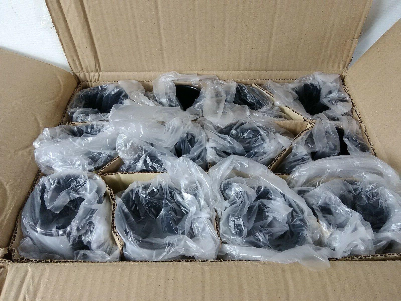 Case of 36 Black Ceramic White Patch Design Coatings