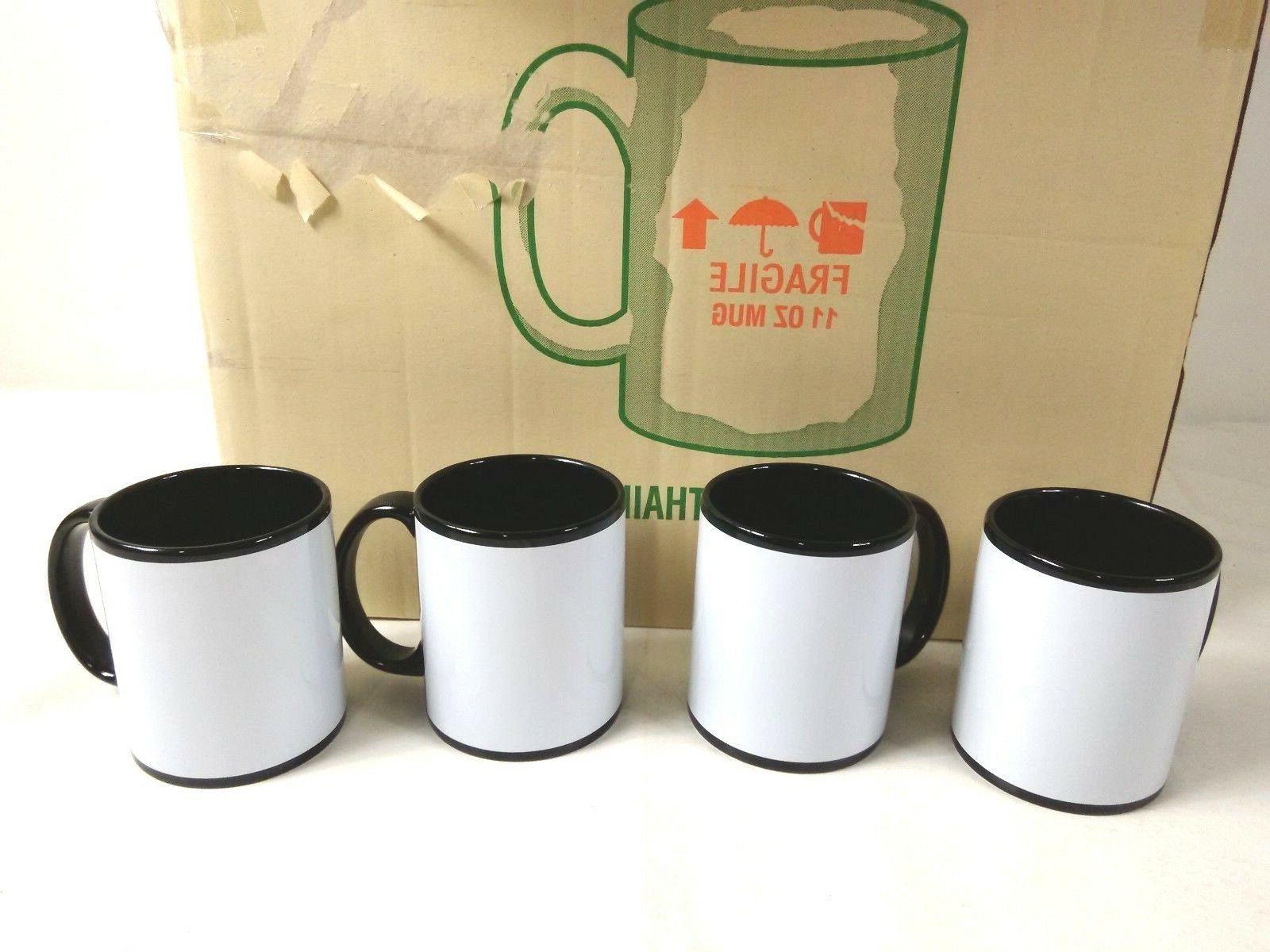 case of 36 black ceramic 11 oz