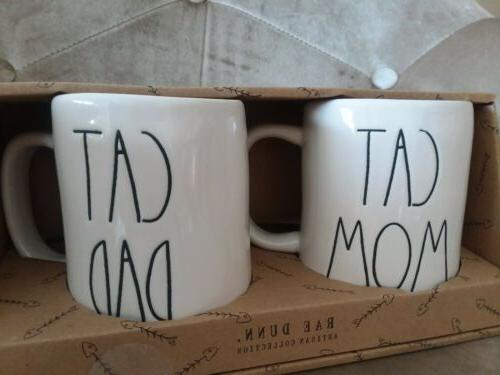 Rae Dunn & CAT DAD Coffee Tea SET GIFT *Careful