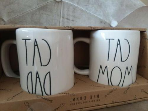 Rae Dunn & CAT Coffee Mugs MUG SET GIFT