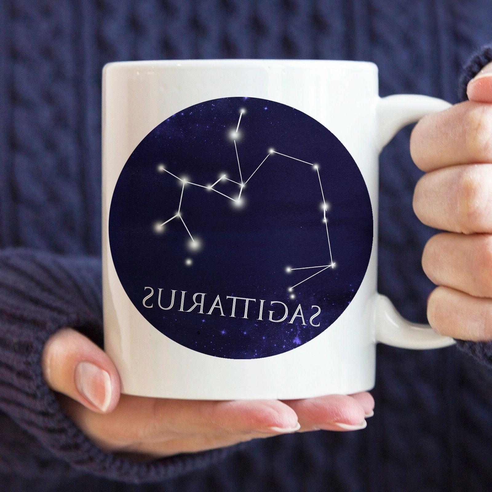 celestial sagittarius constellation coffee mug microwave