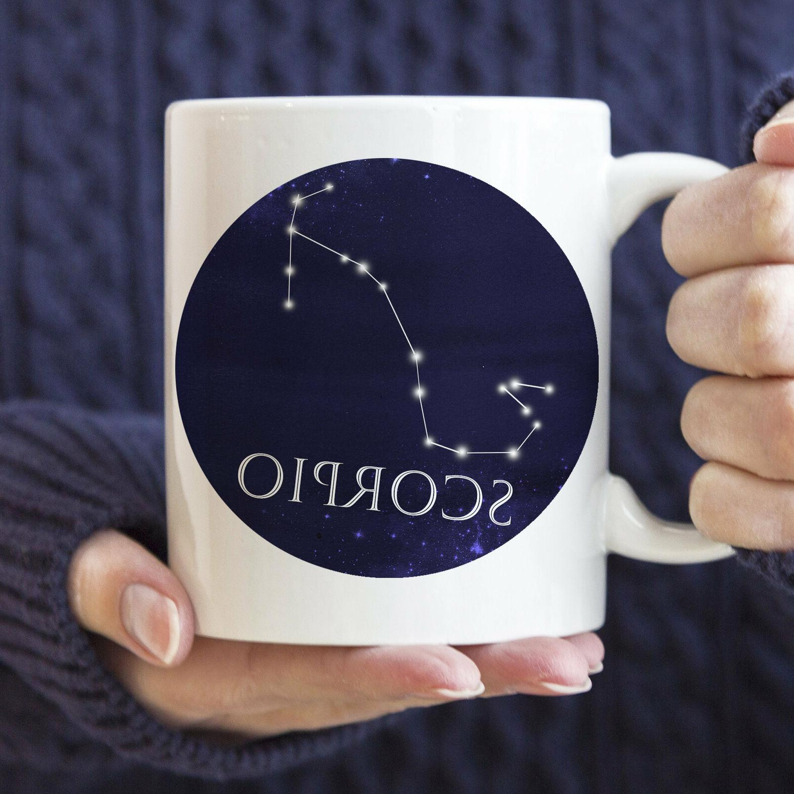 Celestial Scorpio Constellation Mug Microwave And Dishwasher Safe Scorpio