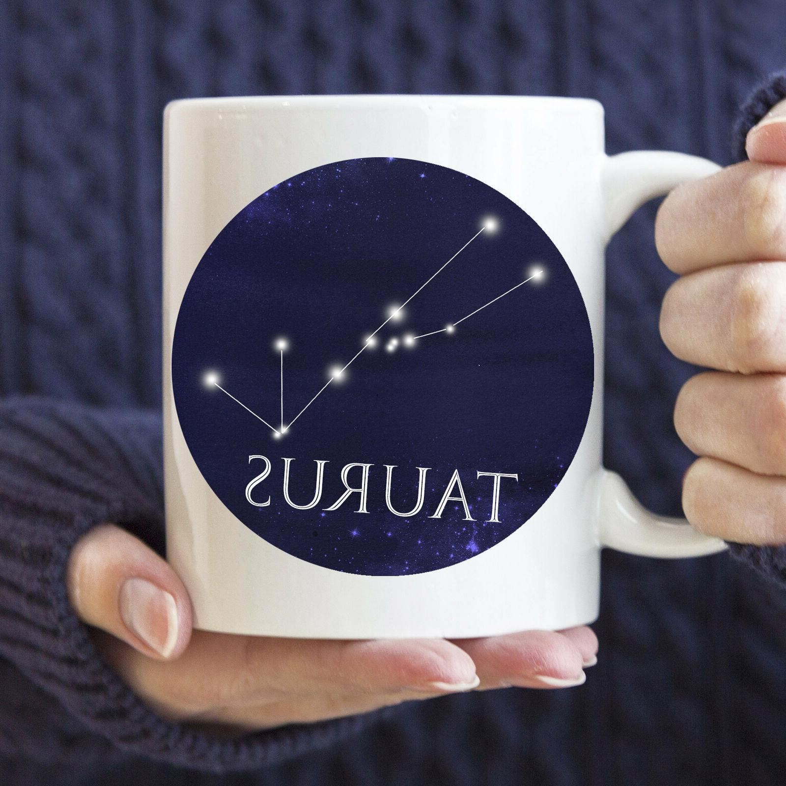 Celestial Taurus Constellation Coffee Mug Microwave And Dish