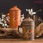 Ceramic Dragon Pattern Tea Mugs Coffee Pot Mug With Lid Infu