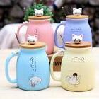 Ceramic Mug Cute Design Heat Resistant Cups With Lid For Off