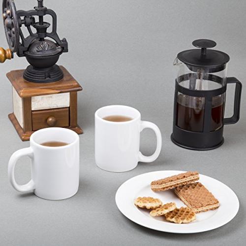 "Creative Home 85355 Set of oz Ceramic Tea X 4"" White"
