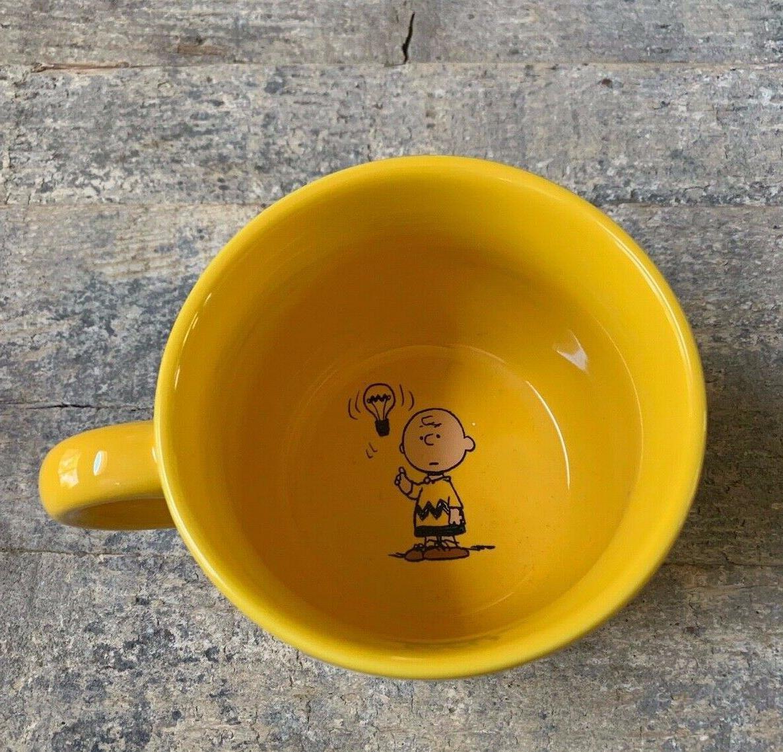 charlie brown large yellow mug peanuts gang
