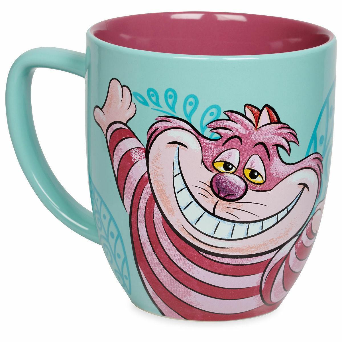 Disney Cheshire Cat Portrait Ceramic Coffee Mug 12 oz