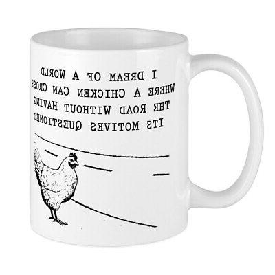 CafePress - Chicken Motives Questioned Mugs - 11 oz Ceramic