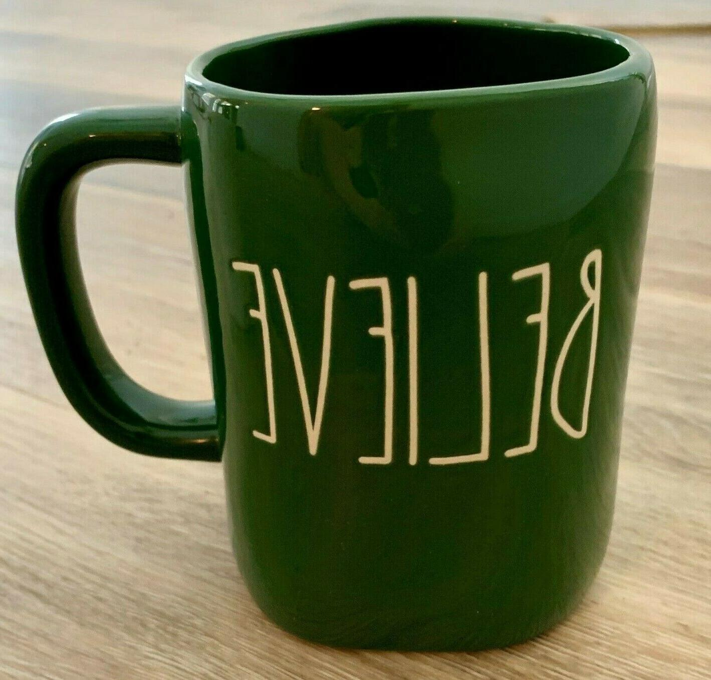 christmas believe mug green