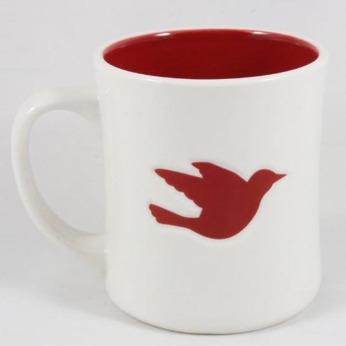 coffee 2008 ceramic white red