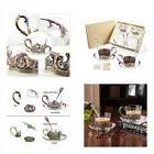Coffee Glassware & Drinkware Cup Set 2, 8oz Hand Blown Tea M