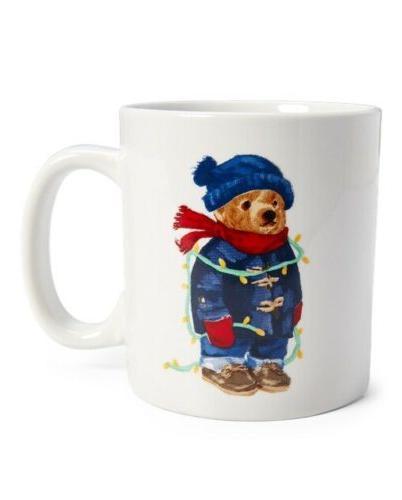 Polo Ralph Lauren Coffee Mug Cup Winter Holiday Polo Bear 16