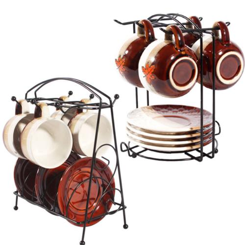 Coffee Mug Dishes Tree Metal Holder Cups Organizer Kitchen D