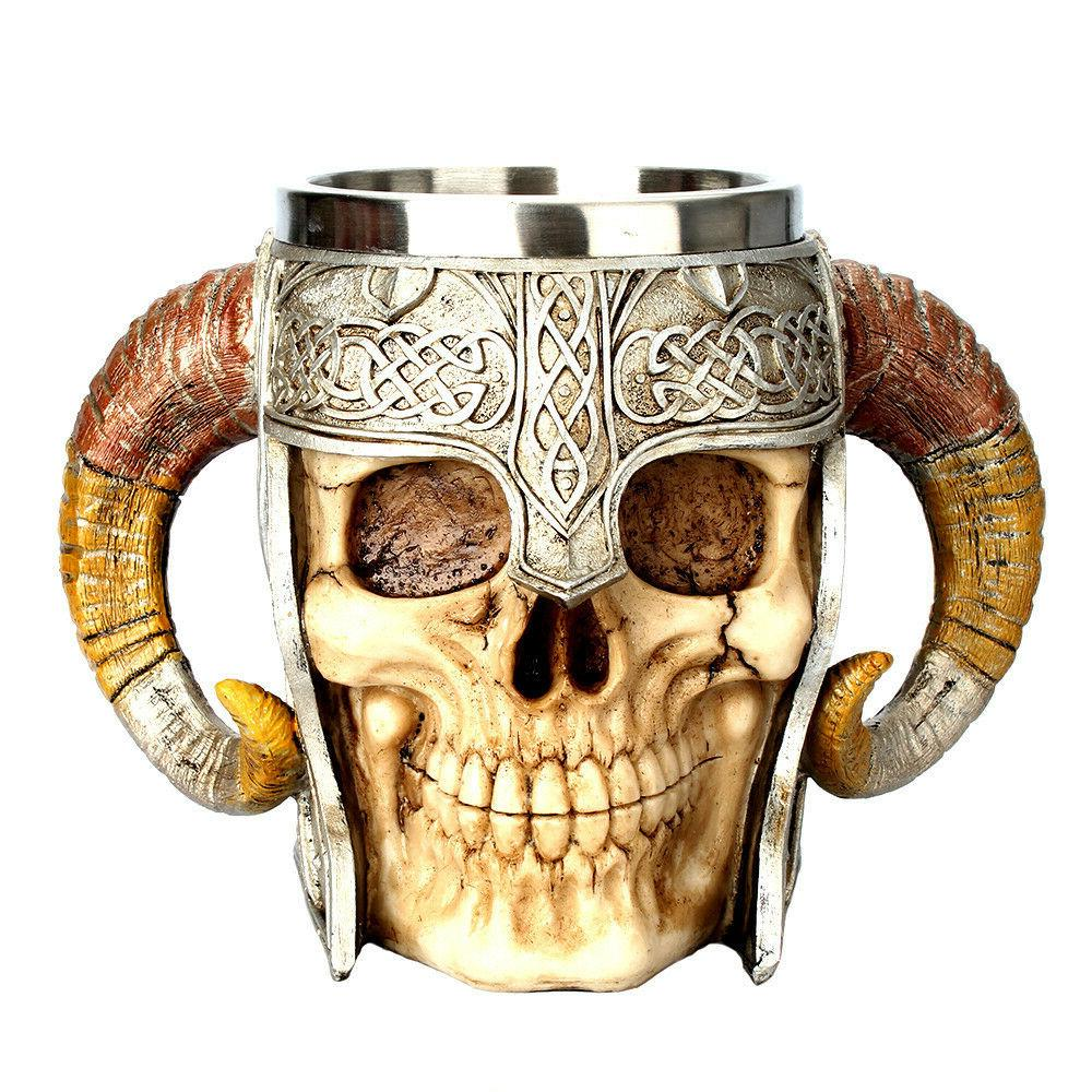 Coffee Warrior Viking Double 3D Cup