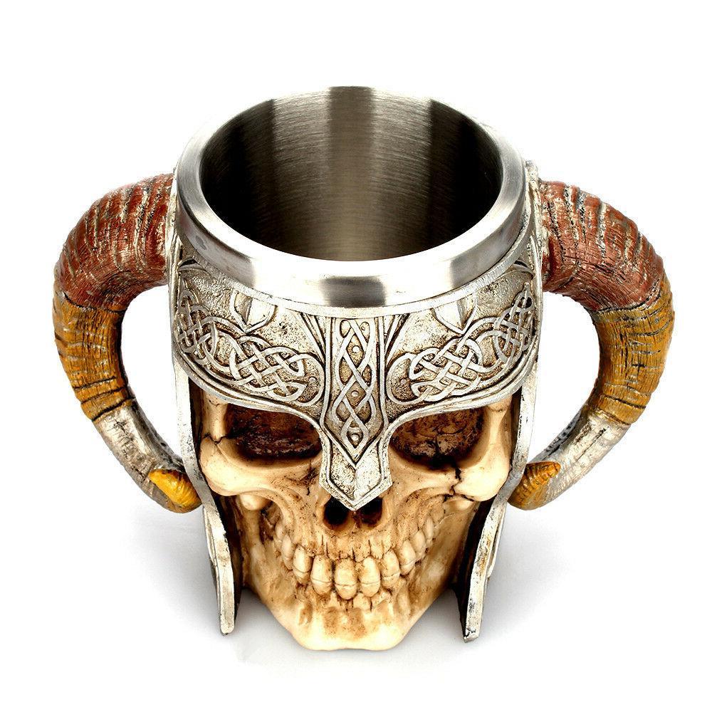Coffee Mug Striking Warrior Tankard Double Wall 3D