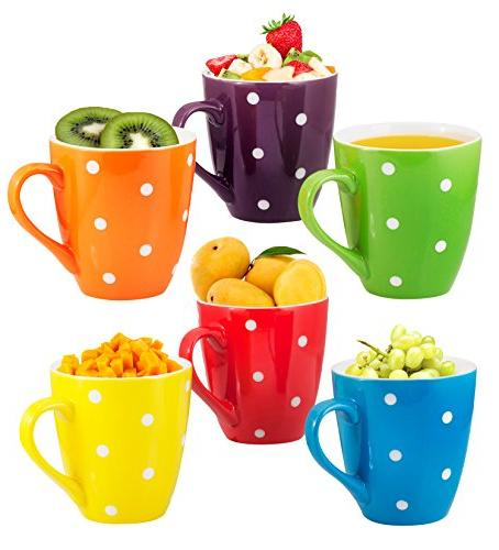 Coffee Set of 6 Large-sized 16 Ounce Bruntmor