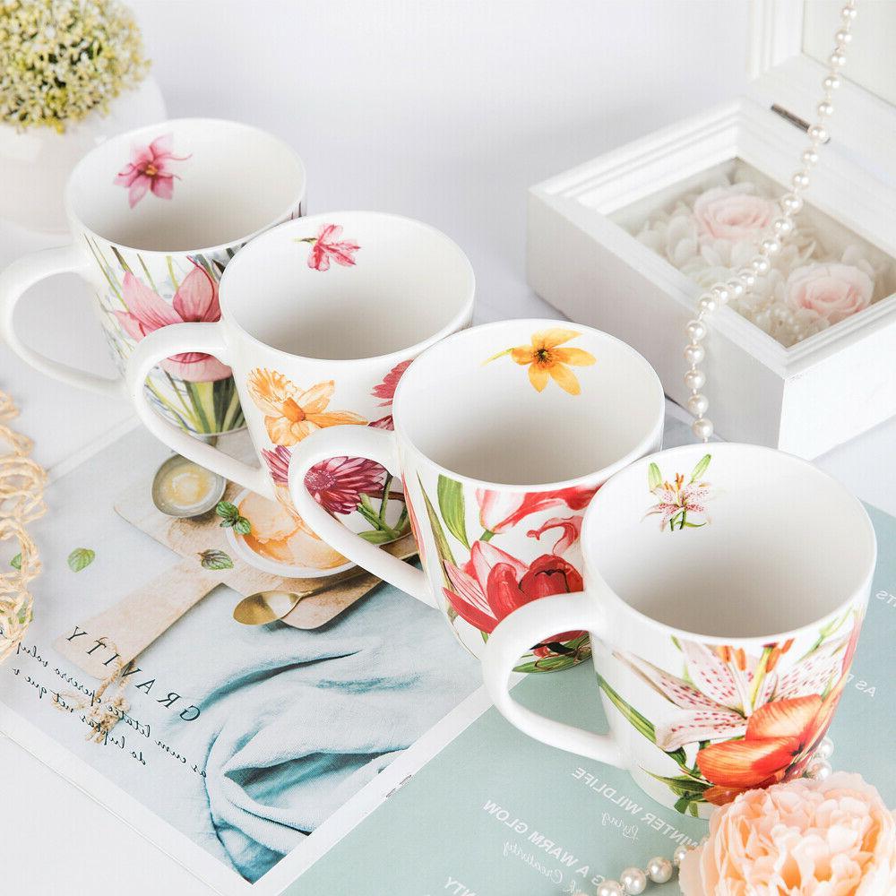 Coffee Set, Bone Floral Set 4
