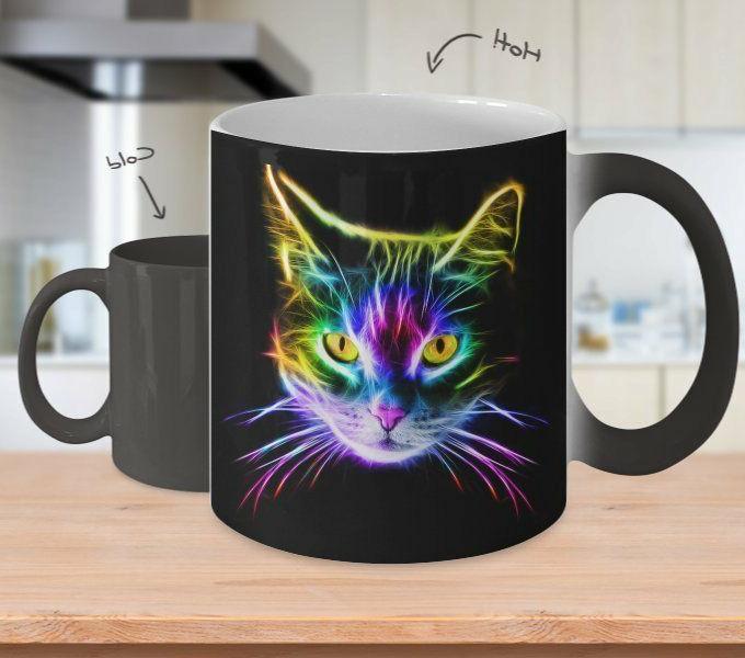 color changing mug cat lover inspirational mug