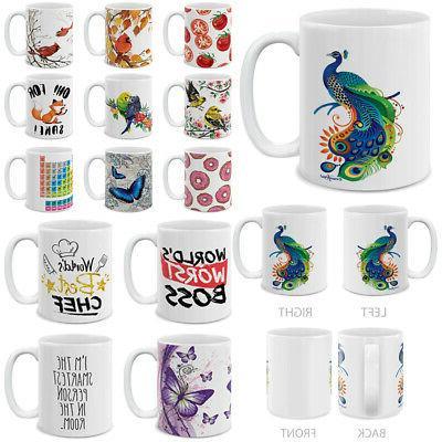 colorful design 11 oz ceramic coffee tea