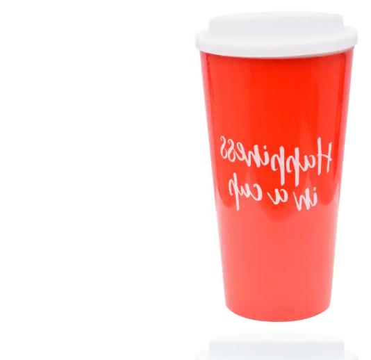 Colorful Sentiment Assorted Travel Mugs, 16 Free