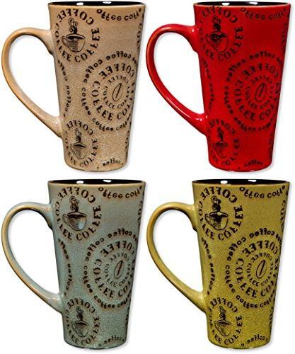 colorful tasty ceramic coffee mug
