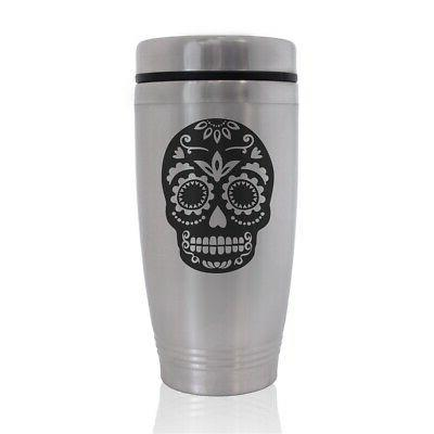 commuter travel mug day of the dead