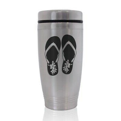commuter travel mug hawaiian beach sandals