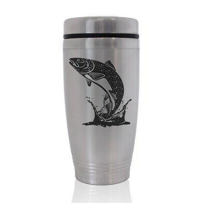 commuter travel mug trout fish