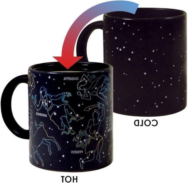 constellation heat changing coffee ceramic mug holds