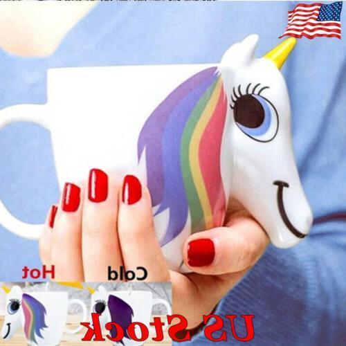 Creative Unicorn Mug Ceramic Color Changing Mug Original 3D