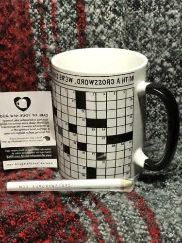 Crossword Mug~12 Ounce~The Unemployed Philosophers Guild~ No Orig