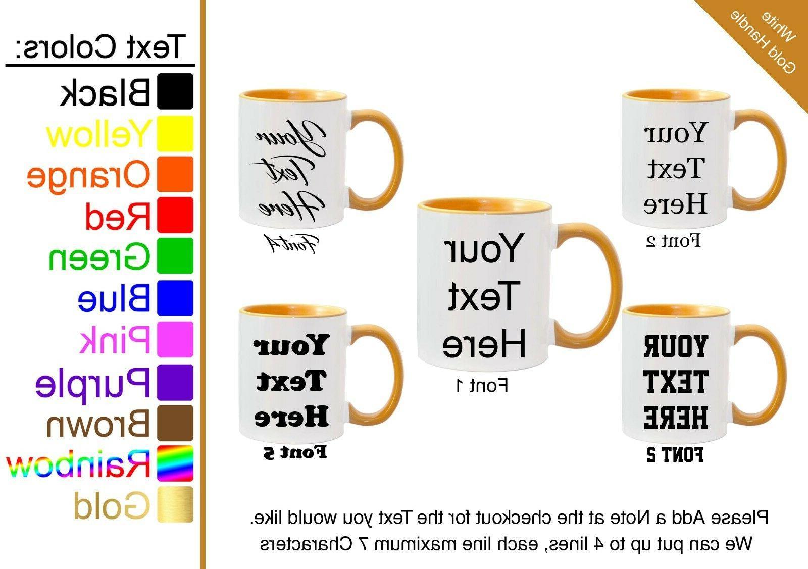 Customized Mugs Choose Personalized Coffee Custom