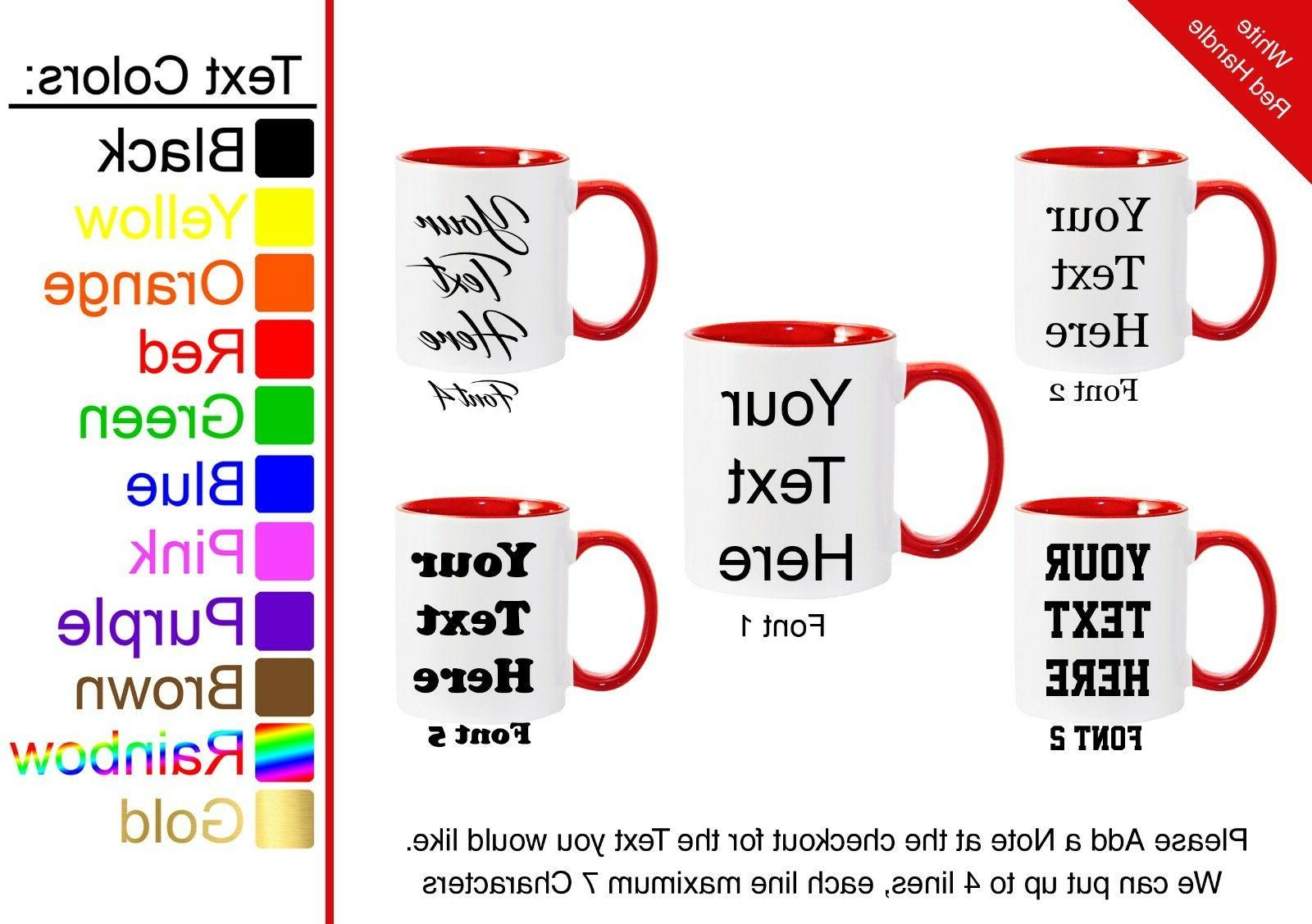 Customized 7 Mugs to Choose From Personalized Coffee Mug