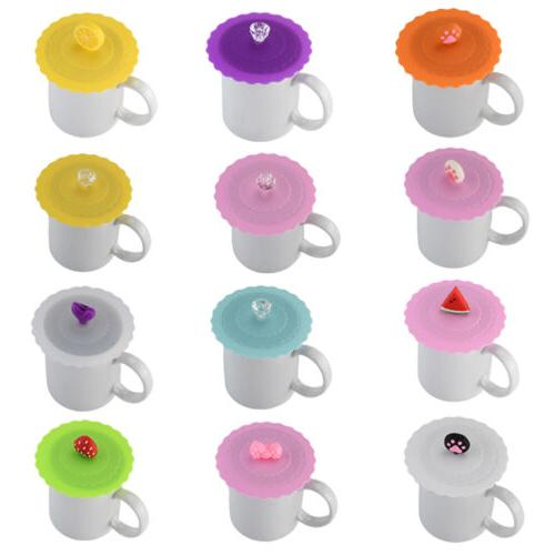 Cute Glass Cup Cover Silicone Bowknot Cup Cover Coffee Mug S