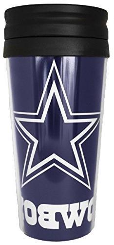 Dallas Cowboys Travel Mug 14 oz  Full Wrap Graphics Double W