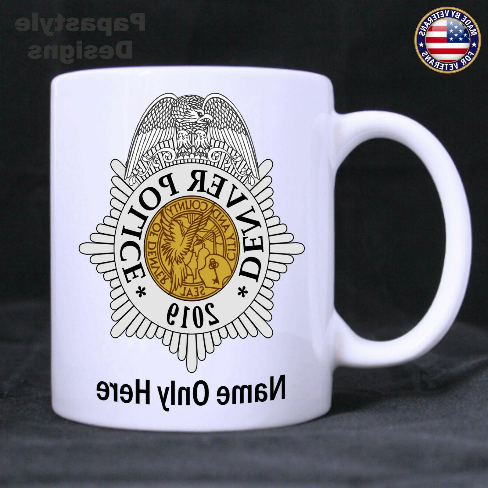 denver police officer personalized 11oz coffee mug