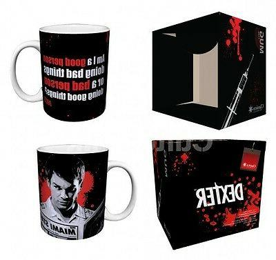 DEXTER Good Person/Bad Person Porcelain Coffee Mug, 11 oz, B