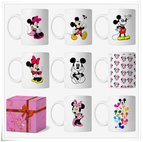 Disney Cartoon Pattern Mickey Minnie Mouse Coffee Mug Tea Cu