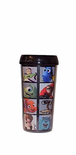 Disney Pixar Movie Characters 16 Oz Insulated Travel Mug