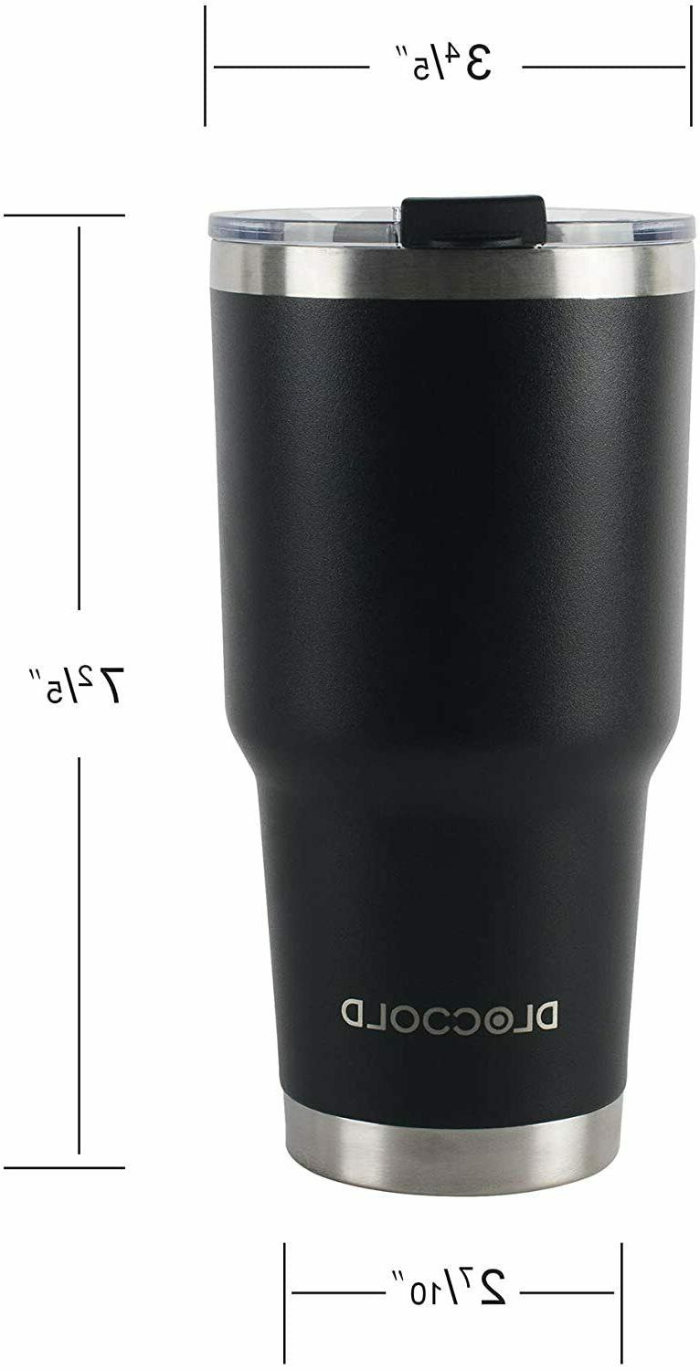 DLOCCOLD Tumbler Double Wall Vacuum Insulated Mug wi