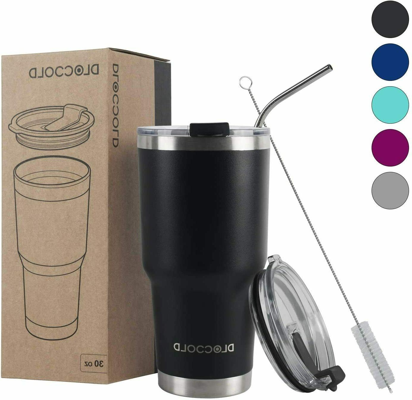 DLOCCOLD 30oz Wall Vacuum Insulated Travel wi