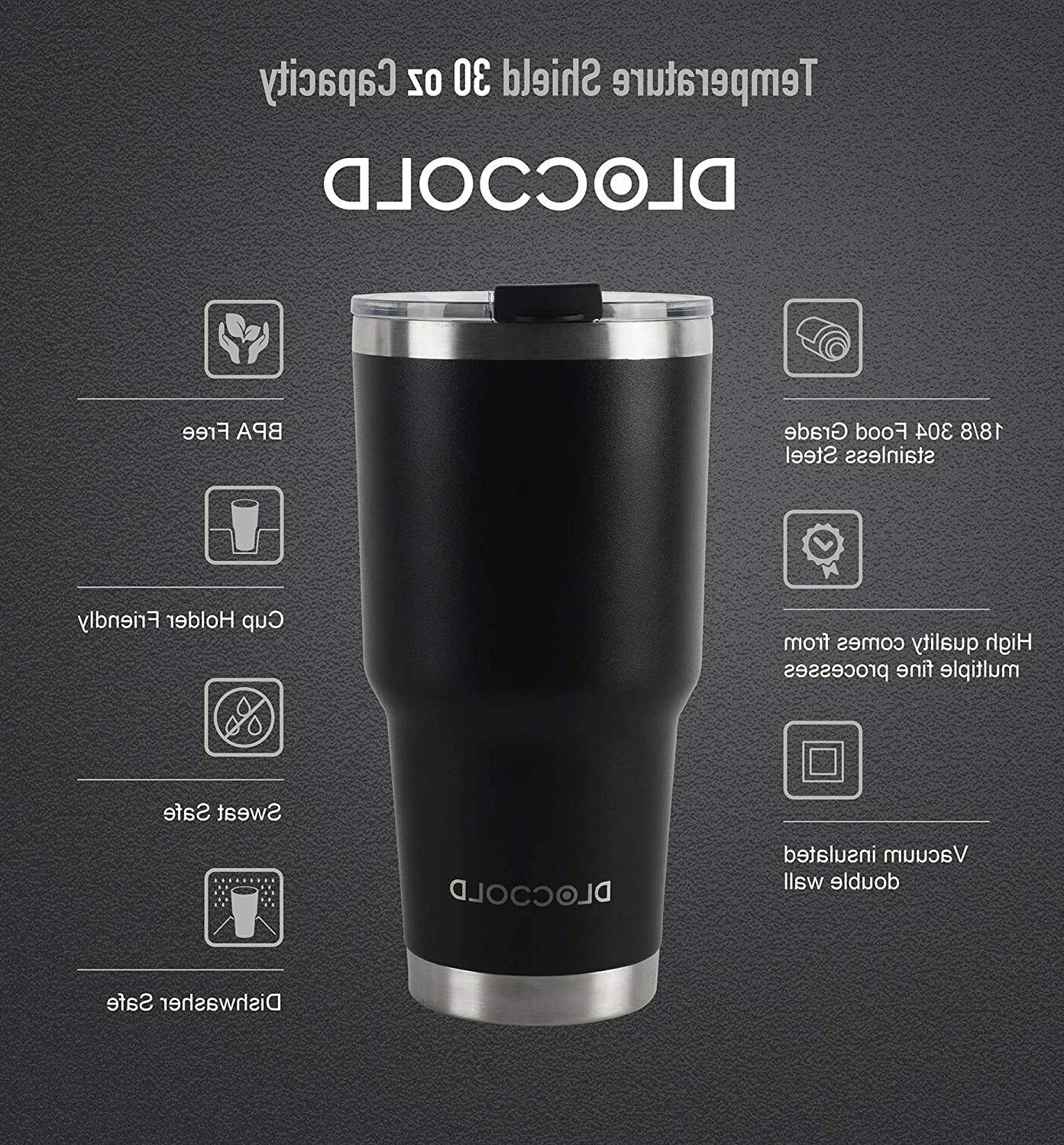 DLOCCOLD 30oz Tumbler Wall Stainless Steel Vacuum Insulated