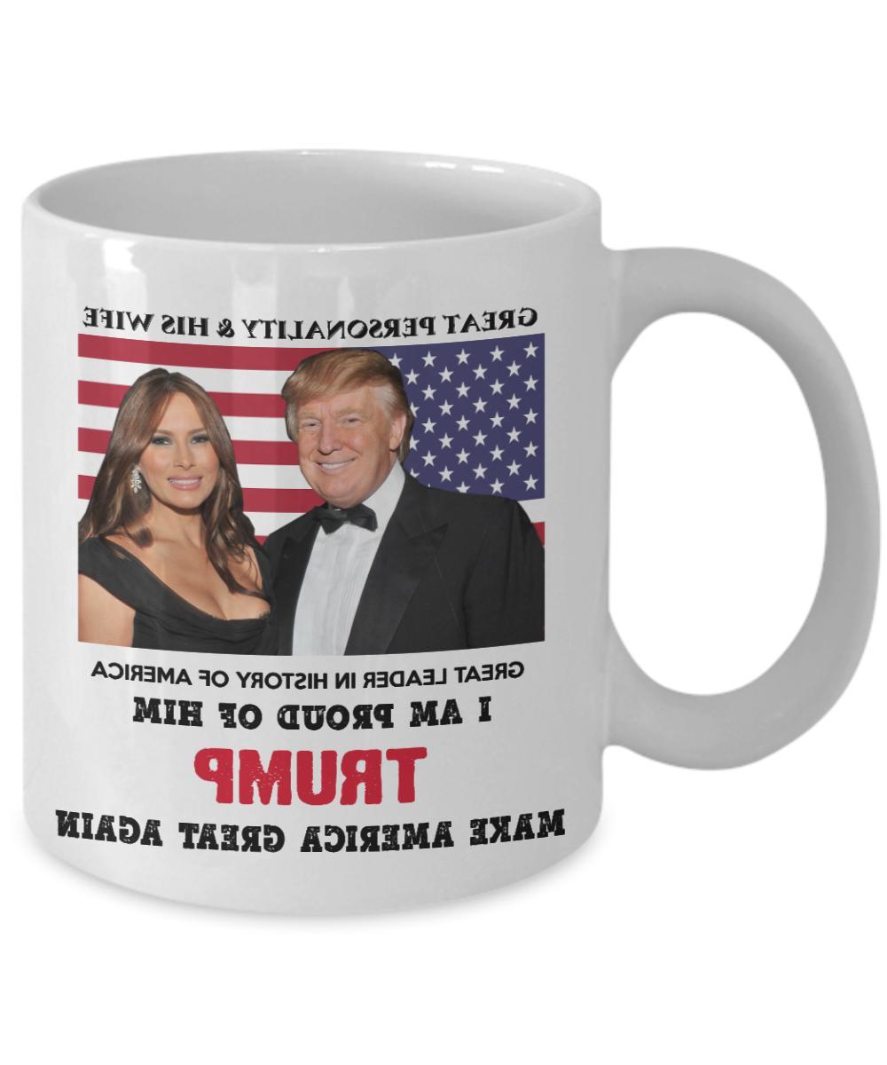 Donald Trump And Wife Coffee Mug Cup 11 oz President Make Am