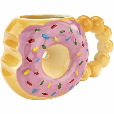 DONUT w/ Sayings Tea & Cocoa Novelty Gift Ceramic Cup