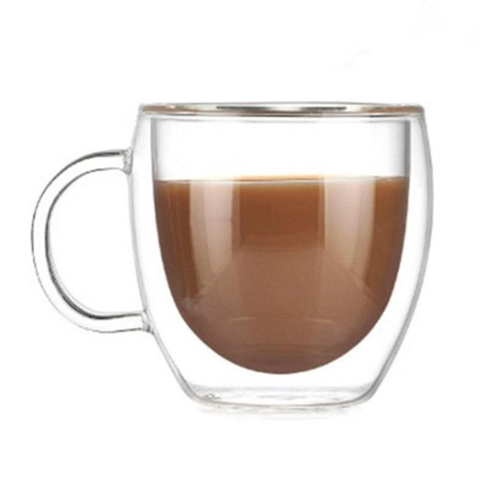 Double With the Handle Drinking Insulation Double Wall Tea Creative Drinkware Milk