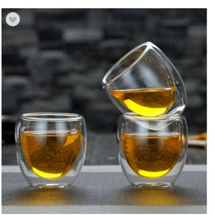 Double Espresso Glass Cups