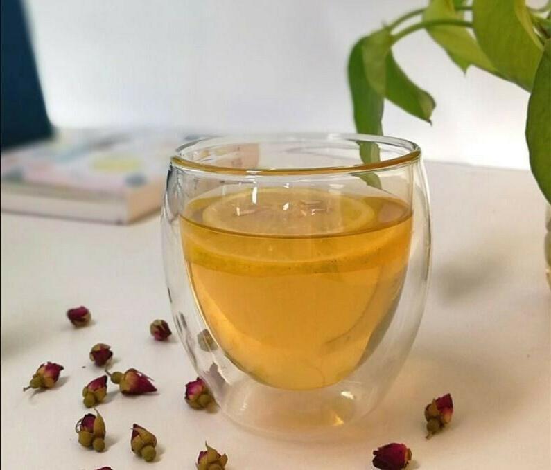 Double Espresso Glass Cups Set 4 Tea