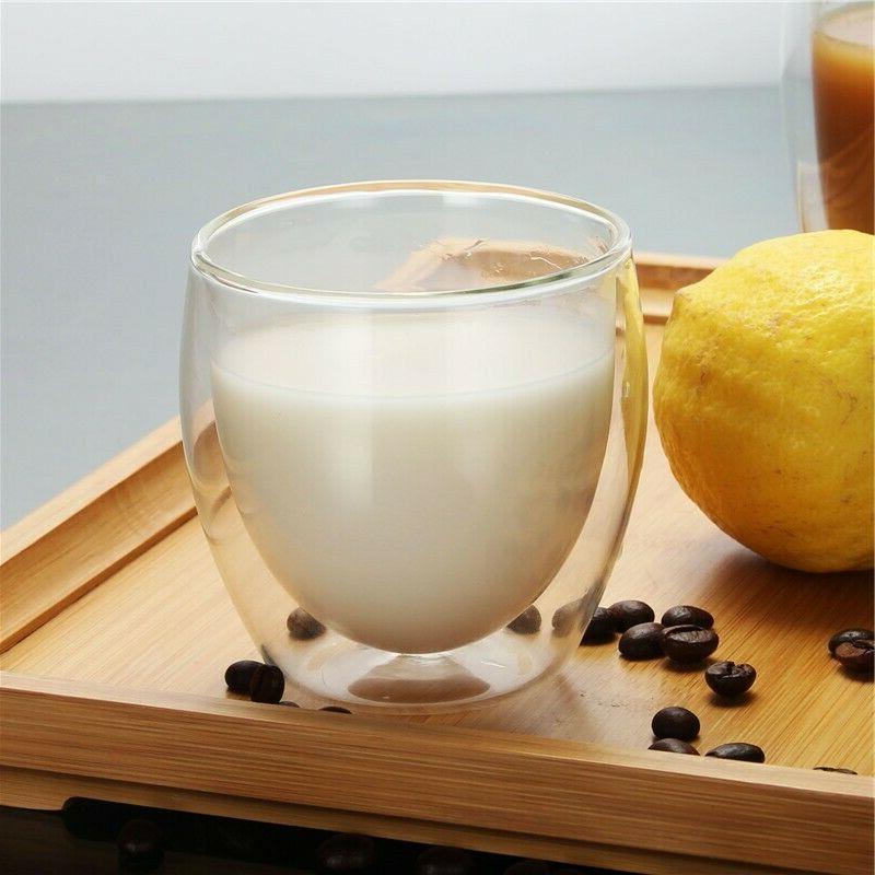 Double Wall Espresso Glass 4 80ml Tea Glasses