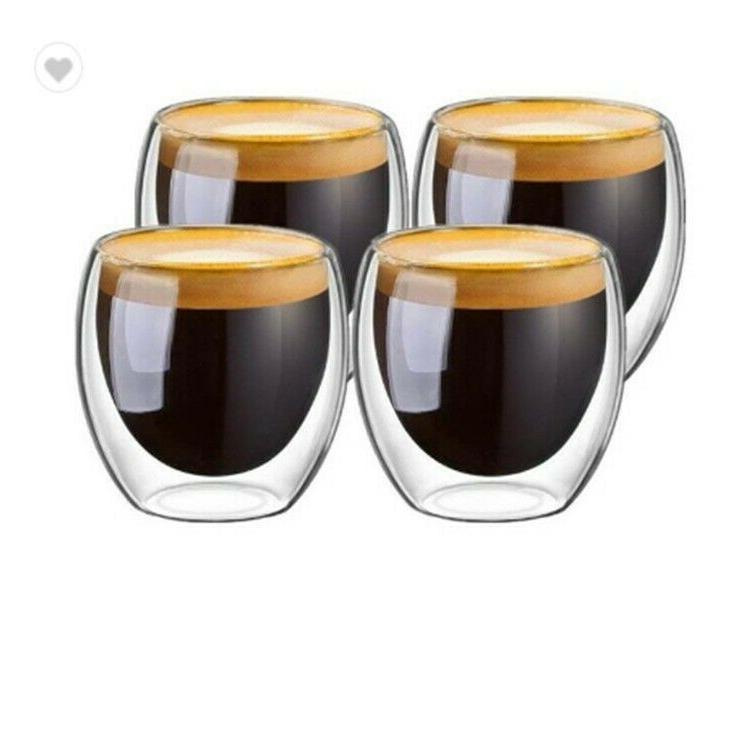 Double Espresso Glass 4 80ml Coffee Mug